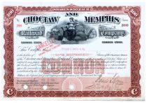 Choctaw & Memphis Railroad Company Stock