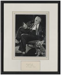 Robert Frost Signed Card