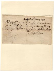 Eliphalet Dyer Receives Expenses For Attending Continental Congress