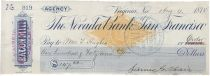 Check Signed by Silver Mining Magnate James G. Fair
