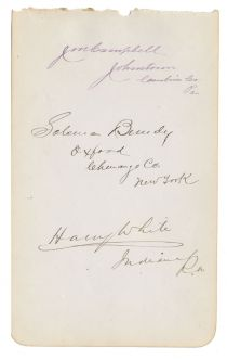 Autograph Album Page Signed by Three Congressman, Two Who Were Also Union Generals During the Civil War