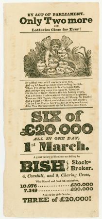 Printed Advertisement for a British Lottery