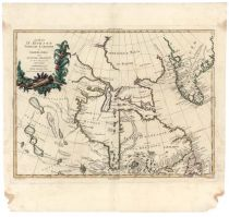 Hand-colored Map Of Hudson Bay, Labrador And Greenland By Antonio Zatta