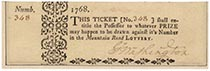 Mountain Road Lottery Ticket Signed By George Washington
