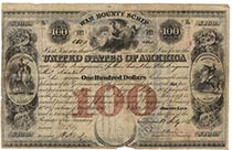 United States War Bounty Scrip $100