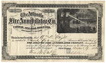 An Outstanding Scripophily Rarity! The Atlantic Fire Annihilator Company