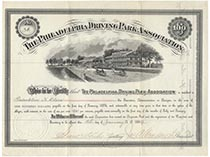 Philadelphia Driving Park Association bond