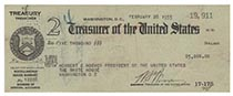 A Rare Presidential Payroll Check Issued To Herbert Hoover And Endorsed By Him On Verso