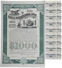 Peoples' Mutual Telephone Co.  bond