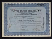 Curtiss Flying Service, Inc.  temp cert.