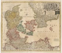 A Colorful Map Of Sandiavia And The Baltics By Homann