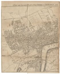 An Early Plan Of The Cities Of London Broadside