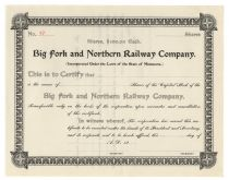 Big Fork And Northern Railway Company
