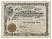 A Rare Issued Connell Northern Railway Company Stock
