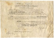 Naval Appointment Signed by President John Tyler