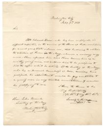James Polk Writes a Letter of Recommendation to the Secretary of the Navy