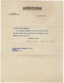 TR Writes to Admiral Seaton Schroeder
