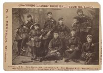 Young Ladies' Base Ball Club No. 1 Cabinet Photo