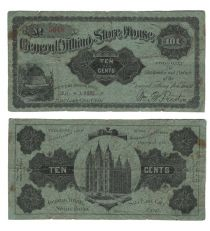 10¢ Mormon Store House Note