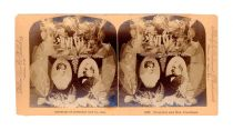 Stereo Card Of Grover And Frances Cleveland