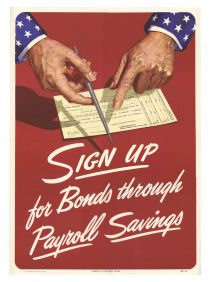 Official U.s. Treasury Poster 1948