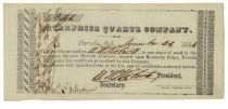 An Extremely Early California Gold Mining Stock Certificate