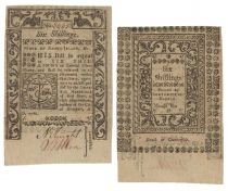 Colonial Rhode Island Six Shillings Note