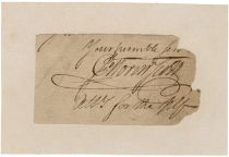 General John Morin Scott Cut Signature