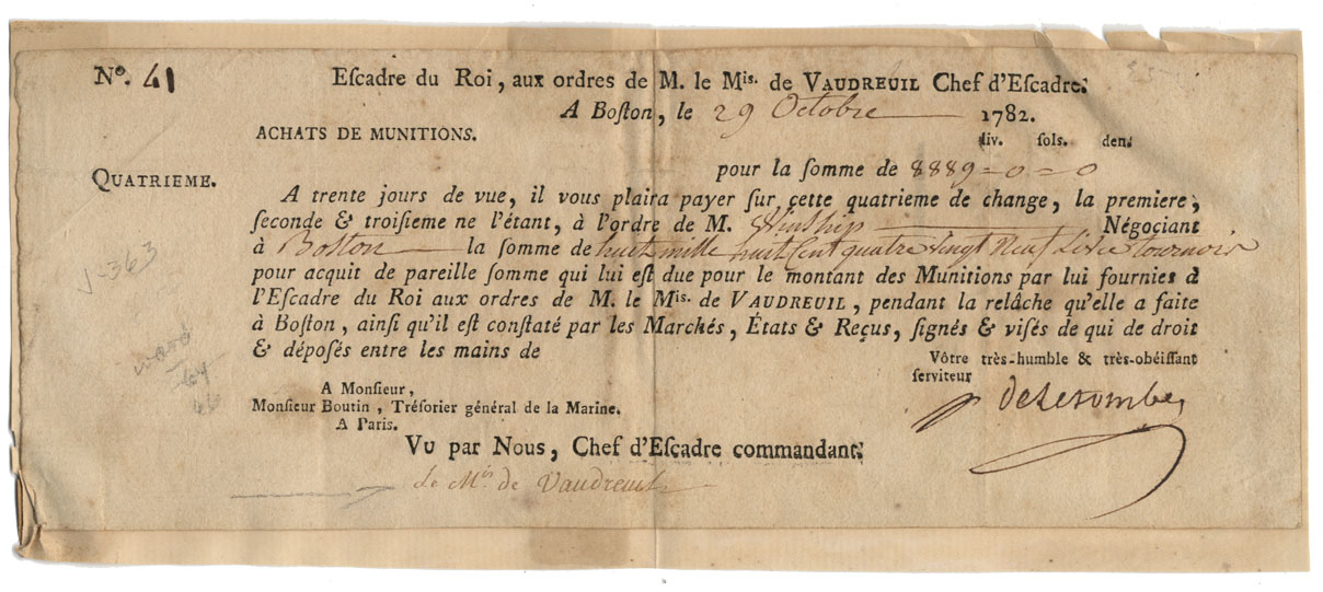 Signed by Vaudreuil Just Months After The Disastrous French Defeat At The Battle Of The Saintes