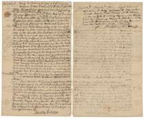 Writ  Of Seizure Signed In The Third Person By Declaration Of Independence Signer Robert Treat Paine