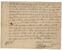 Document Signed by Declaration of Independence Signer William Floyd and FDR's Great-Great Grandfather, Isaac Roosevelt