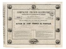 A Highly Unusual Graphic French Certificate