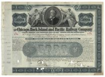 Chicago, Rock Island & Pacific Railway Company Issued To William Waldorf Astor