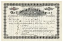 Moulton Mining Company-Signed By William Andrews Clark