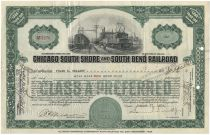 Chicago South Shore And South Bend Railroad - Signed By Samuel Insull Jr As Vice President