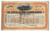 St. Louis, Alton And Terre Haute Railroad Company-signed By George Foster Peabody