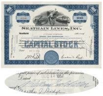 Seatrain Lines, Inc. - Issued To And Signed By James Stillman Rockefeller