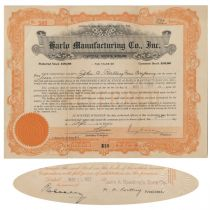 A Harlo Manufacturing Company Signed By Brooklyn Bridge Builder Washington A. Roebling