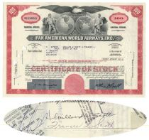 Willard Scott And His Wife Sign A Pan Am Stock