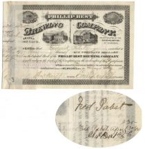Phillip Best Brewing Company Stock Issued To And Signed On  Verso By Frederick Pabst