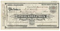 Scarce Mining Stock Signed By Peter A. B. Widener - Philadelphia Mining And Smelting Co.
