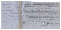 Chicago And Rock Island Rail Road Co. Signed By John Jervis