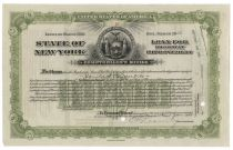 New York Highway Improvement Bond Issued To  Harold S. Vanderbilt