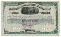 Chicago & Canada Southern Railway Co. Stock Signed By Cornelius Vanderbilt II As Treasurer