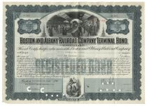 Boston And Albany Railroad Company Terminal Bond