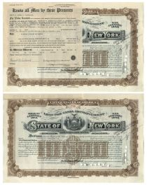 Alfred G. Vanderbilt Signed State Of New York Bond