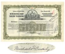 Michael F. Cudahy Signed Bond