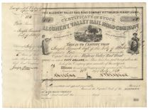 Allegheny Valley Railroad Company Stock
