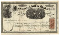 Superb Graphic Minnesota Gold Mining Signed By Henry Hastings Sibley