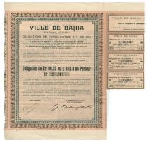 Brazil Bond Issued By The City Of Bahia
